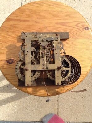 Rare Antique Circa 1880 E N Welch 'Forest Ville CT' USA American Clock Movement