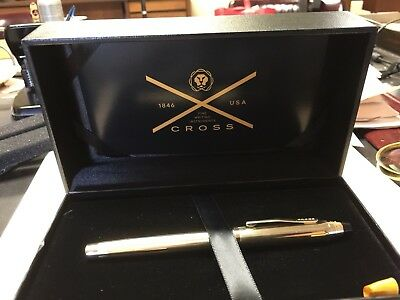 Cross Centruy II 10kt Gold Fountain Pen.  Brand NEW, NEVER USED, IN THE BOX!