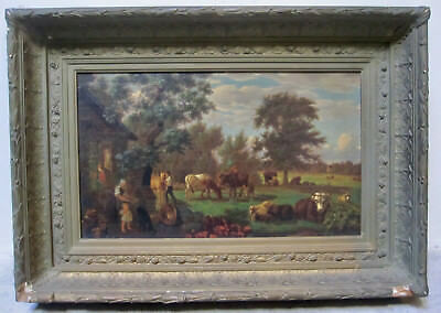 19th Century Hudson River School Cow American Bucolic Pastoral ASHER DURAND ?