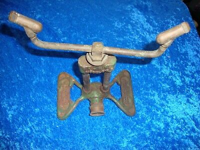 Vintage RAIN KING cast Iron lawn SPRINKLER Model D-1   butterfly base