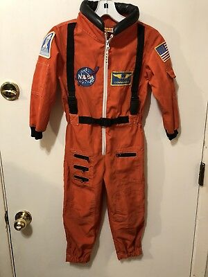 Get Real Gear Dress Up 4 Kids NASA Space Shuttle Commander Costume Size 4-6  VGC