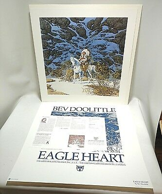 Bev Doolittle Eagle Heart Print, Signed, Numbered,  COA, #36322