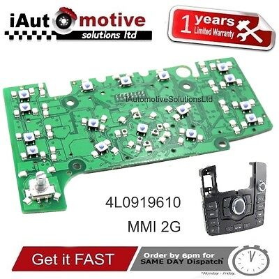 Audi Q7 MMI 2G Navigation Control Panel Electrical Circuit Board 4L1919610 SLine