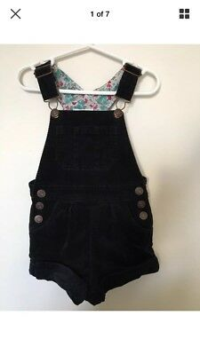 Navy Cord/Velour Short Overalls From Pumpkin Patch. Size 1