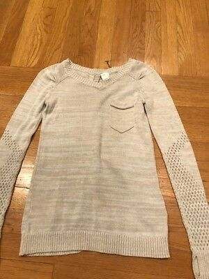 ivivva girls sweater - Size 8 - light tan