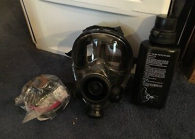 SGE Military Grade Tactical Full Face Gas Mask /Drinking System /M-95 Cartridge