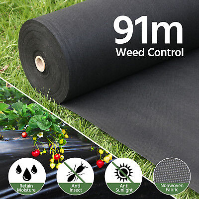 91M x0.91M Weedmat Weed Control Mat Nonwoven Fabric Biodegradable Garden Plant