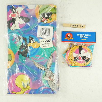 Looney Tunes Wb Gift Bags And Tags Party Birthday Vtg New 2 Packs Of 20 1997
