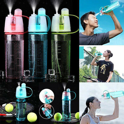 400/600ML Sport Spray Water Bottle Cup Travel Camping Hiking Cycling Outdoor Gym