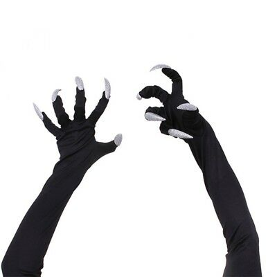 Halloween Gloves Unisex Long Nails Claw Vampiress Devil Cosplay Costume Props