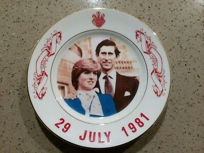 Charles and Diana Commemorative Royal Wedding plate