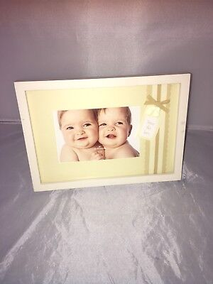 Hallmark baby twin photo frame 4x6 photo with twice the love design brand new