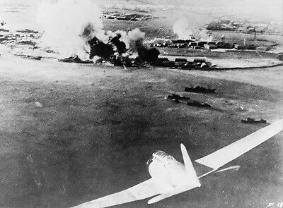 B&W WWII Photo Pearl Harbor Attack Japanese View  WW2 World War Two
