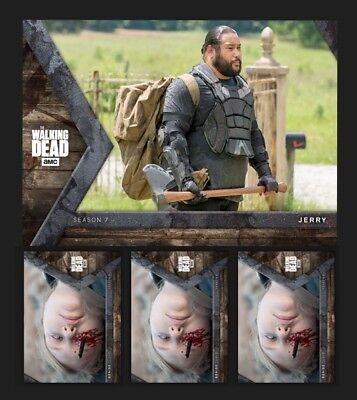 JERRY+4x DENISE CLOYD-INTO THE HUNT-HUNTER/HUNTED-TOPPS WALKING DEAD TRADER