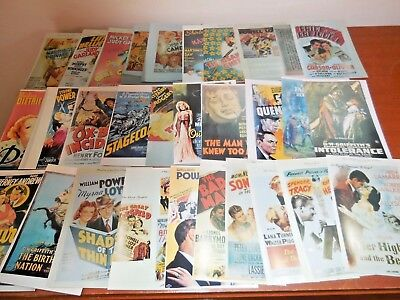 Historic Photos Of Old Movie Posters Lot Of 30. Prop. Collectable .
