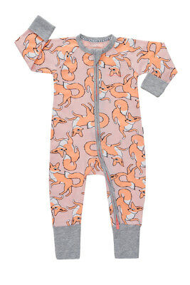 Bonds Baby Long Sleeve Zip Wondersuit Romper sizes  00 0 1 2 3 Fox Trot