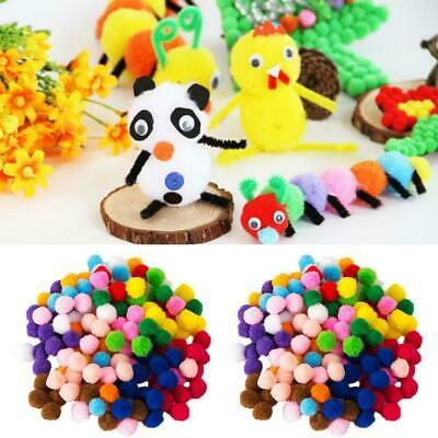 2000x DIY.Mischfarbe Mini Weiche Fluffy Pompons Ball 8mm kinder Handwerk Toy