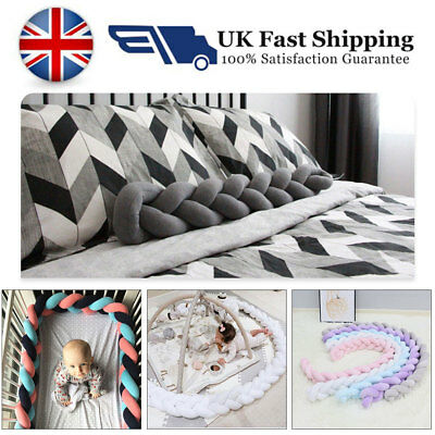 Soft Baby Bumper Bedding Braid Crib Protector Pillow Infant Cot Bed Pad Cushion