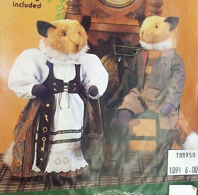 """22"""" Bavarian FOXES dolls & clothing, uncut sewing pattern"""