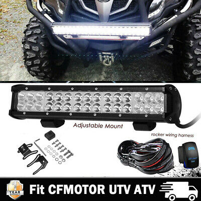 14 Inch LED Light Bar + 2x Cube Pods Kit Fit UTV ATV CFmoto ZForce 600 800 1000