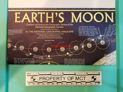 """National Geographic magazine map of """"Earth's Moon"""" from 1969"""