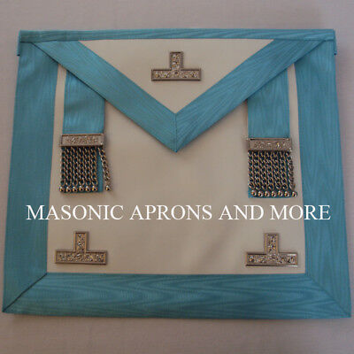 Masonic Craft Worshipful Master (WM) Apron with Pocket (Lambskin)