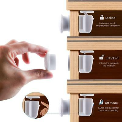 9PCS Magnetic Cabinet Drawer Cupboard Locks for Baby Kids Safety Child Proofing