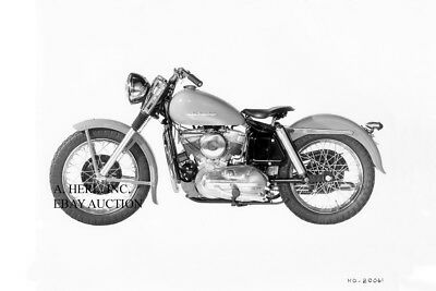 Harley Davidson Model KH 54ci / 883cc 1954 motorcycle photo press photograph
