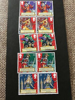 GB MNH STAMP SET 1992 Gilbert and Sullivan Operas