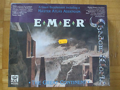 SHADOW WORLD E M E R / new OVP sealed / Rolemaster / I.C.E. 6100 board game 3d