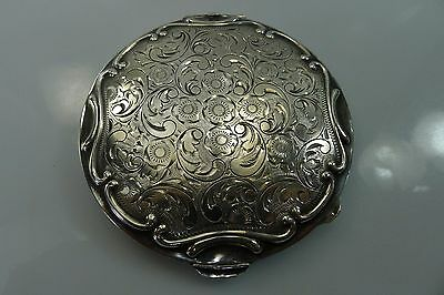 Old Rare Hinged Lid Solid Silver 900 Stunning Vintage Powder Box