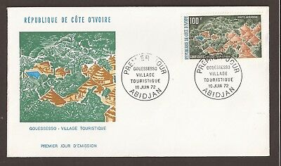 Ivory Coast 1972 FDC. Gouessesso village. Airmail