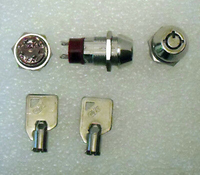 key switch single pole 3 position, tubular key, panel mount C&K NEW