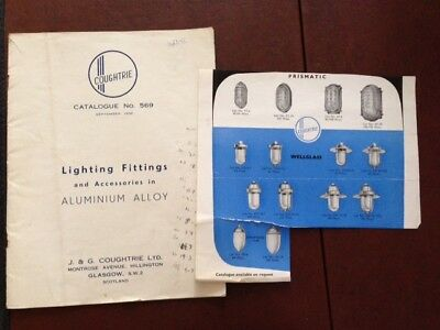 Vintage Coughtrie Outside Light Catalogue 1956 Rare Attic Find