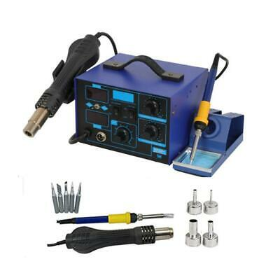 2in1 862D+ 700W 110V SMD Rework Electric Soldering Iron Station w/ Hot Air Gun