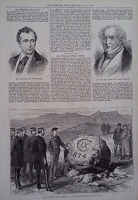 1874 Print Iceland Memorial - F Maccabe,Ventriloquist - The Late W H Betty
