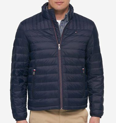 Tommy Hilfiger Down Jacket Quilted Packable Light Weight for men - Navy, XXL