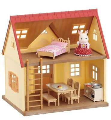 Sylvanian Families Starter House Bluebell Car Furniture Bundle Beds