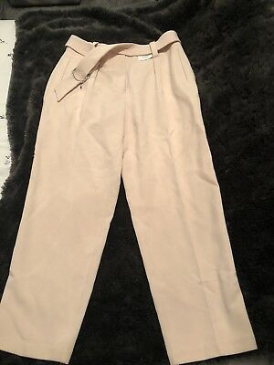 Womens Pales Pink Smart Trousers M And S New With Tags Size 12