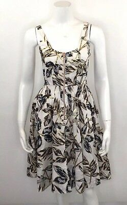 83153d8d892 NEW 10T J Crew Linen Zip Front Dress In Gold Foil Leaf Weathered ...