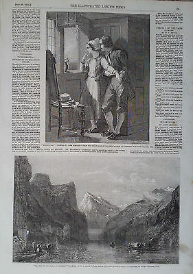 1854 PRINT EXHIBITION PICTURES by JOHN ABSOLON & W C SMITH
