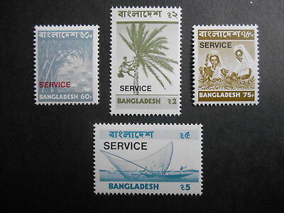 Bangladesh 1976 SERVICE official stamps: 4 of the top values MNH (see photos)