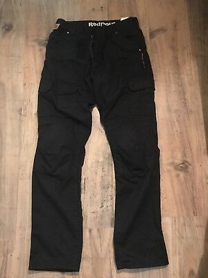 Red Route Ladies Black Motorcycle Jeans With Armour Size 12