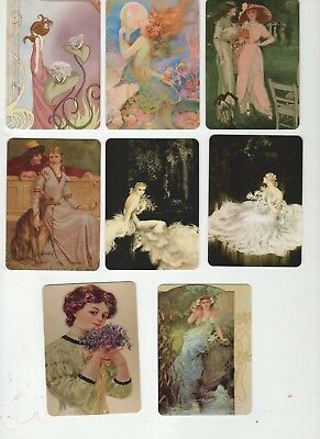 SPECIAL OFFER - ROMANTIC LADIES  (8)  swap/playing cards