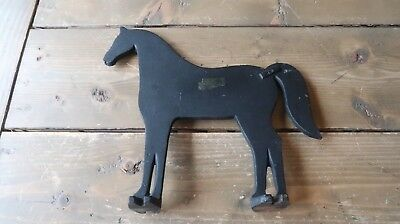Vintage JW Cast Iron Horse Boot Scrapper 9 x 9 inches