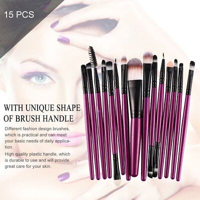 15Pcs/Kit Makeup Brushes Set Cosmetic Make Up Brush Beauty Tool Synthetic HairUX