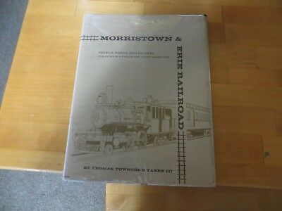 2 Morristown and Erie Railroad books - oneby Thomas Townsend Taber III 1967