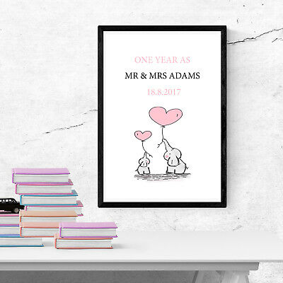 Personalised One year Anniversary 1st year as Custom Paper Print Gift pp41