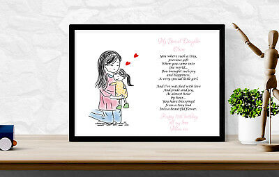Personalised Mum Daughters birthday mothers day Custom Paper Print Gift pp43