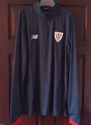 Athletic Club Bilbao New Balance Mid Lyr Training Top Blue Large Mens New
